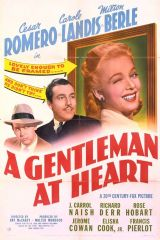 A Gentleman at Heart 1942 DVD - Cesar Romero / Carole Landis